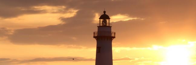 SSI Lighthouse at Sunrise