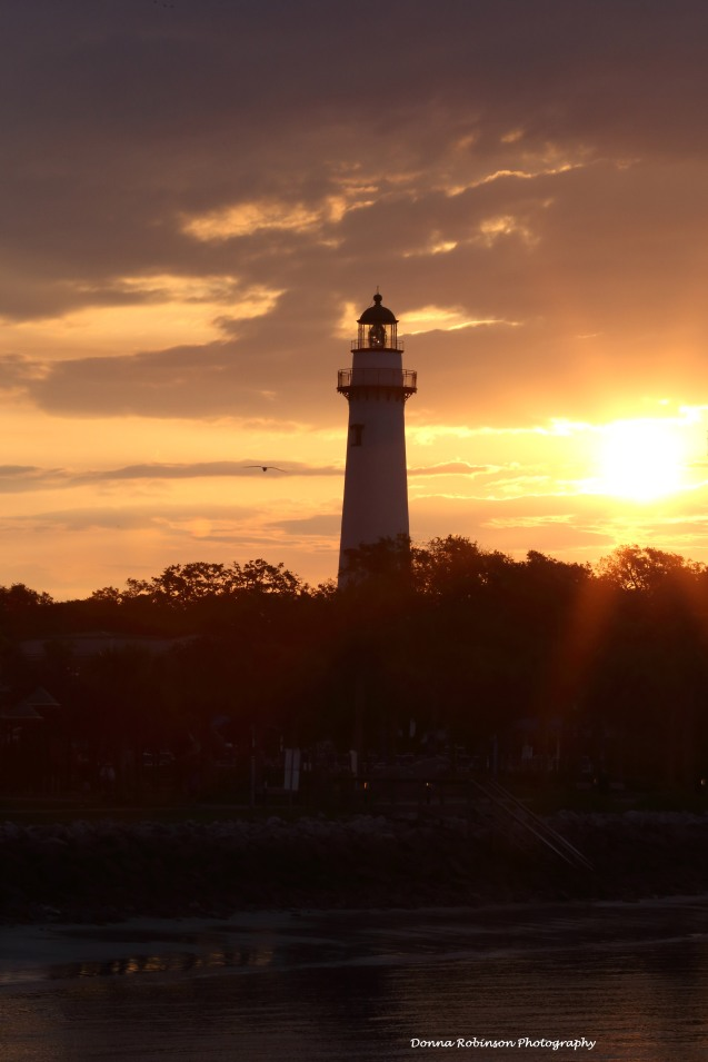 Sunrise over the St. Simons Island Lighthouse
