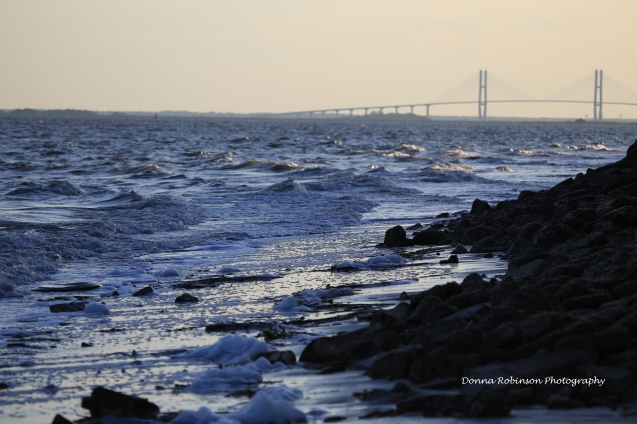 Dusk on St. Simons Island with Sidney Lanier Bridge in the background