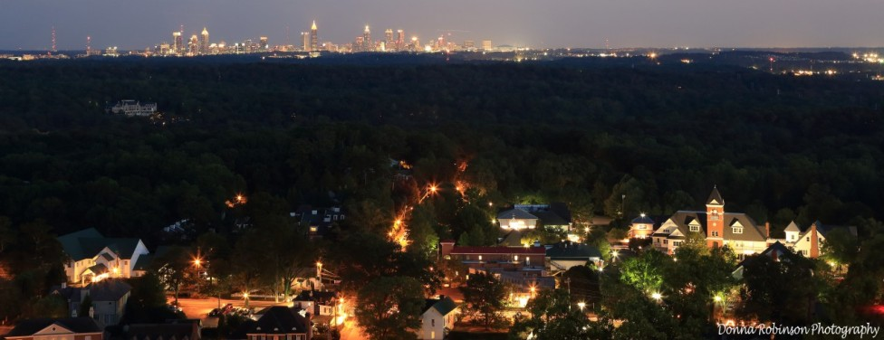 Vinings and the Atlanta skyline