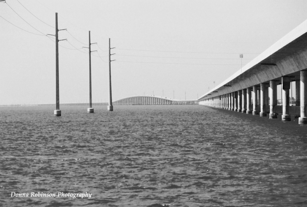 New 7 Mile Bridge bw