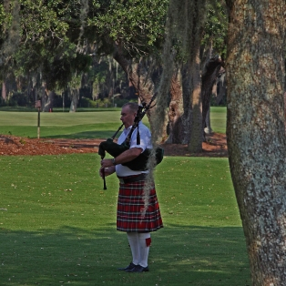 Bagpipes at Sunset - The Lodge at Sea Island