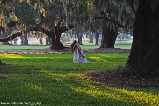 Young Love, First Kiss Under The Oaks at The Lodge at Sea Island