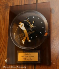 "There's the ""Golfer Clock"" which commemorates a 1984 Golf Tournament Win"